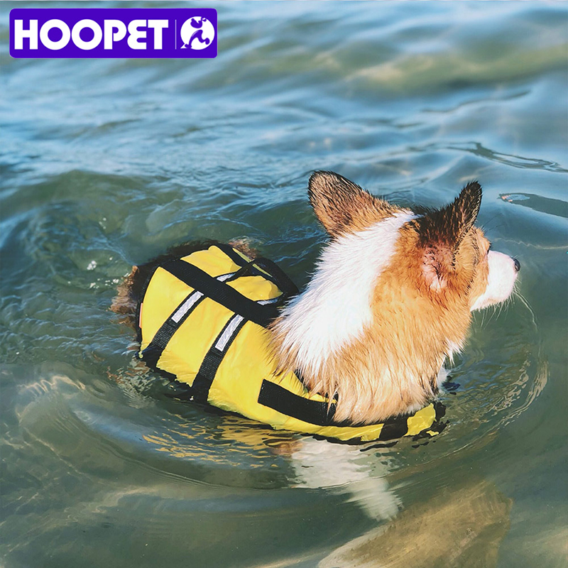 HOOPET Small Dog Pet Life Jacket Safety Clothes Surfing Swimming Vest Summer Puppy Swimwear Beach Vacation Bull Pug Yorkshire