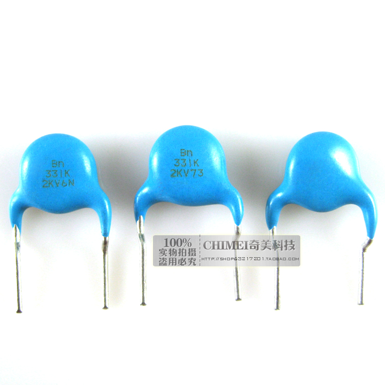 High Voltage Ceramic Capacitors 2KV 331K Ceramic Disc Capacitors Commonly Used In High Voltage Applications