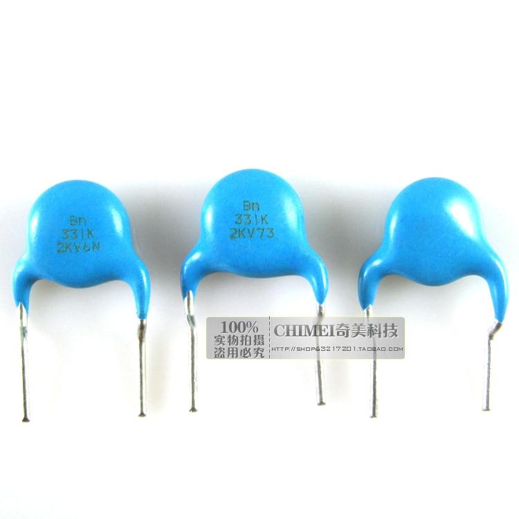 High Voltage Ceramic Capacitors 2KV 331K Ceramic Disc Capacitors Commonly Used In High Voltage Applications