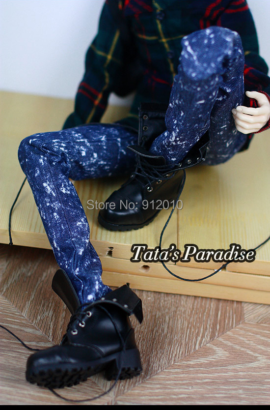 Snow Blue Jeans Pants for BJD 1/4 MSD 1/3 SD17,Uncle,SSDF Doll Clothes
