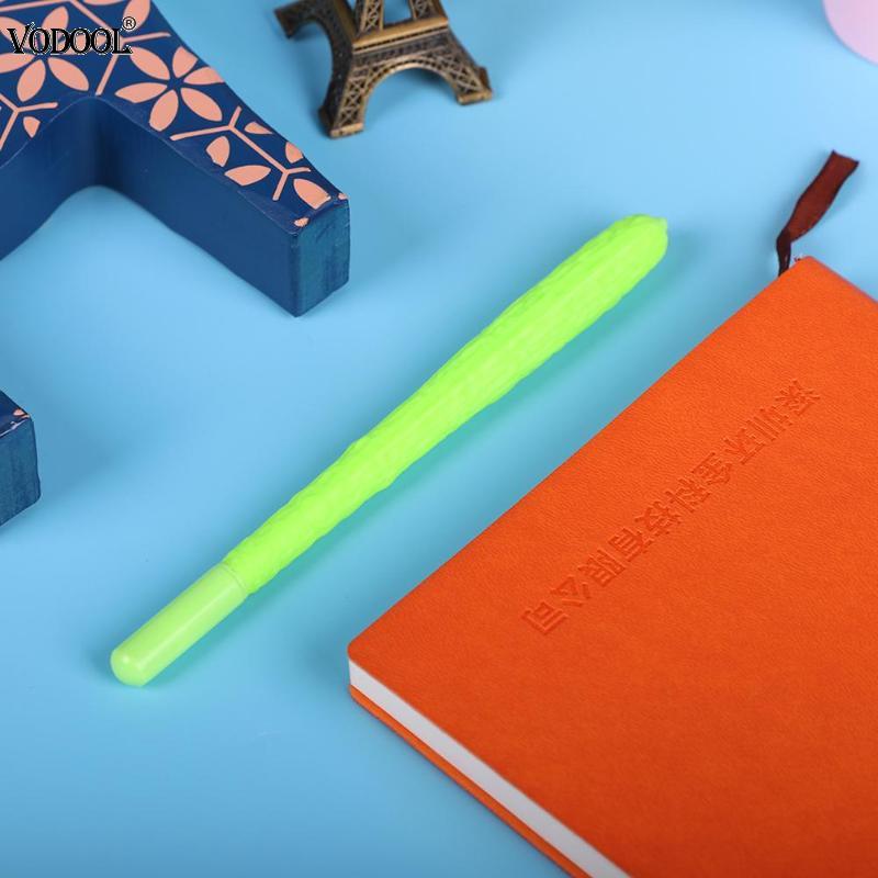 1pc Balsam Pear Cute Gel Pen Pencil Creative Vegetable Writing Pens Black Ink Pen Maker Kids Novelty Gift School Supplies