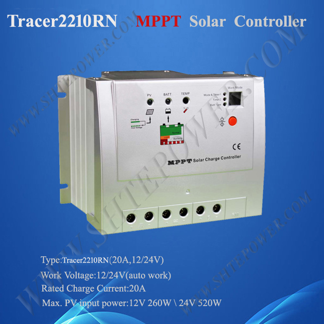 EPsolar Tracer 2210RN 12v 24v 20A mppt solar charge regulator with CE certificate