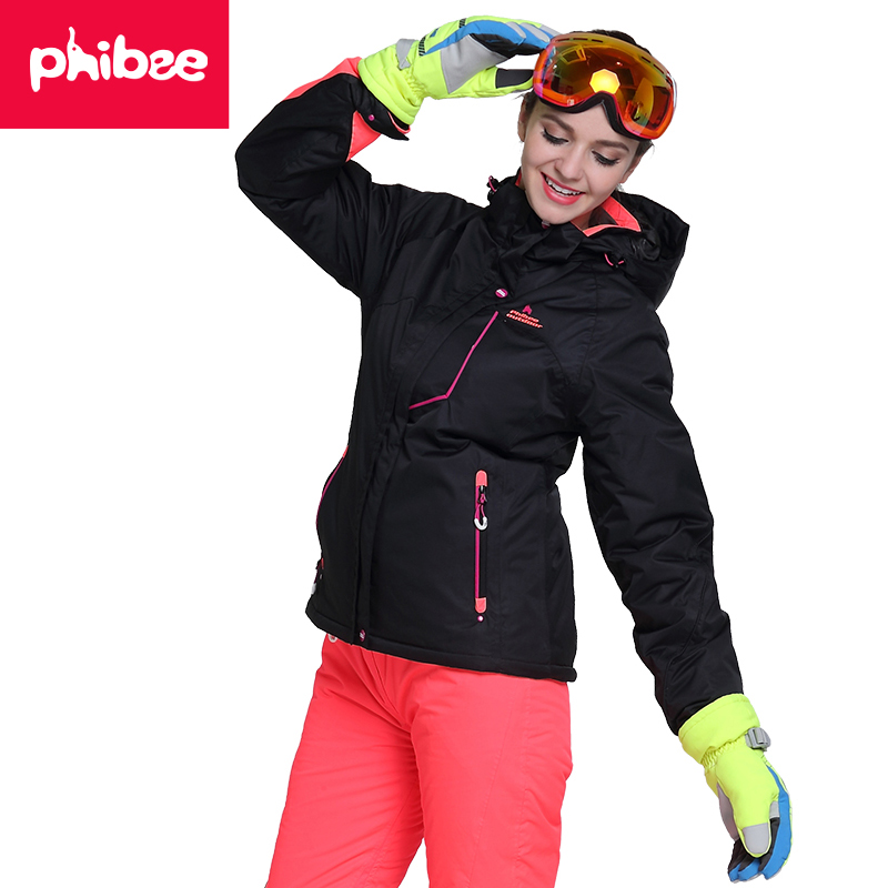 Phibee New Snowboard Jacket Women font b Ski b font Suit Womens Waterproof Windproof Outdoor Winter