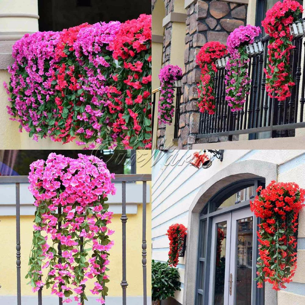 Aliexpress Buy Romantic Artificial Flowers Hanging Orchid Fake