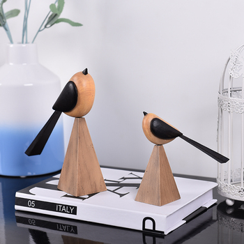 Simple modern art abstract bird animals Living room wine cabinet home dres crafts statues sculpture Home wedding decoration dies