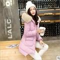 Младший средней школы студенты хлопок пальто 13-14-15-16 лет подросток 17 девушки зимой толстые хлопок куртка