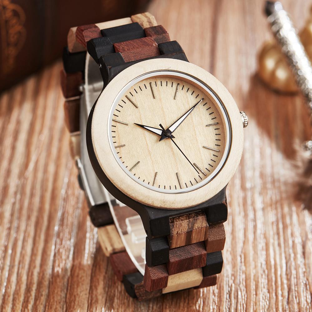 Fashion Wood Watch Men Simple Natural Wooden Band Bracelet Quartz Wristwatch Male Vintage Clock