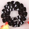 "8x16mm Black Indian Agate Onyx Gems Loose Beads 15"" ED160"