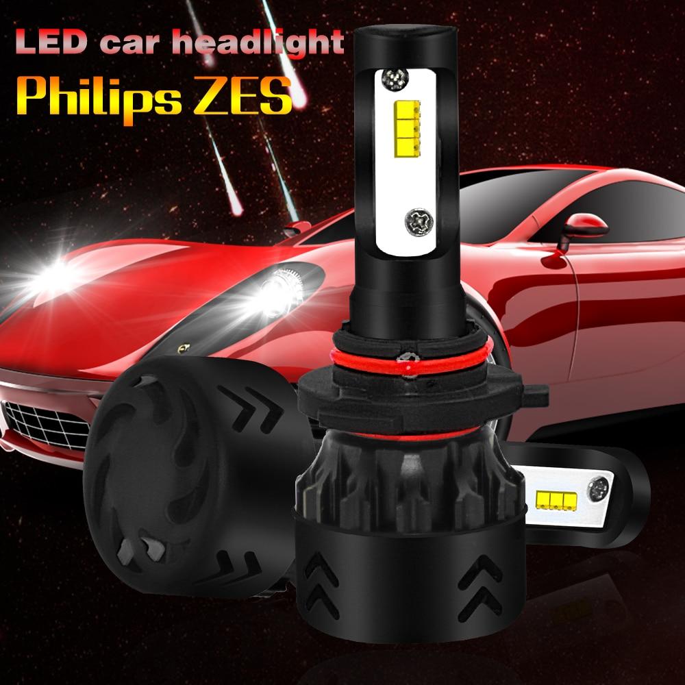 2PCS 12000LM LED car headlights socket type 9005 9006 H1 H4 H7 H11 12V 24V High bright mini lights in Car Headlight Bulbs LED from Automobiles Motorcycles