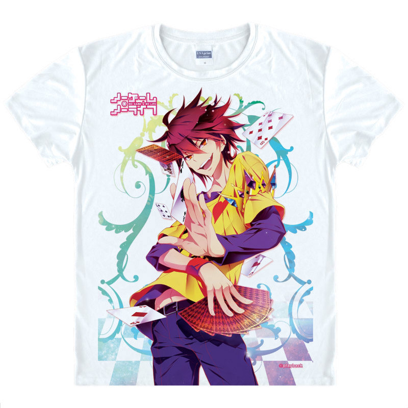 No Game No Life T-Shirt Blank Shirt High Quality T-Shirts anime cute gift Womens Printed ...
