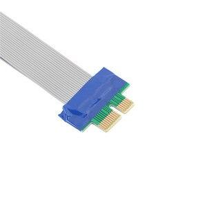 Image 2 - Pci e 1X スロットライザーカードエクステンダー延長リボンフレックスケーブル pci express リードドロップ配送 0804
