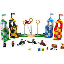 Genuine BELA 11004 536Pcs Harri Potter Quidditch Match Oliver Wood Building Block Toys For Children Compatible Legoe 75956