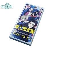 Halder 1 Bộ Yuri Trên Băng Anime Victor Nikiforov Yuri Katsuki đồ chơi Cosplay Ma Thuật Giấy Bưu Thiếp Bộ Sưu Tập Thẻ Keychain