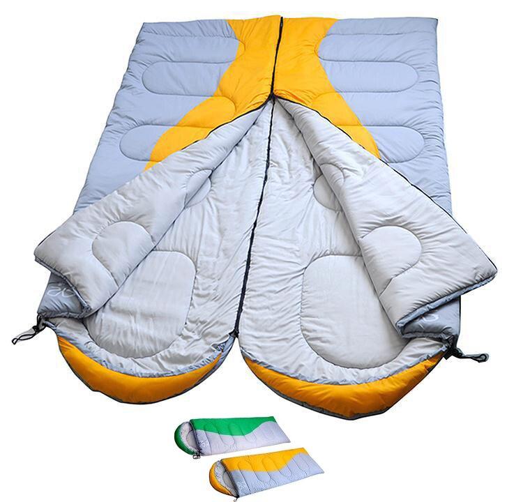 Camping en plein air sac de couchage double sac de couchage pour 2 personne randonnée sacs de couchage pour vente meilleur sacs de couchage d'été