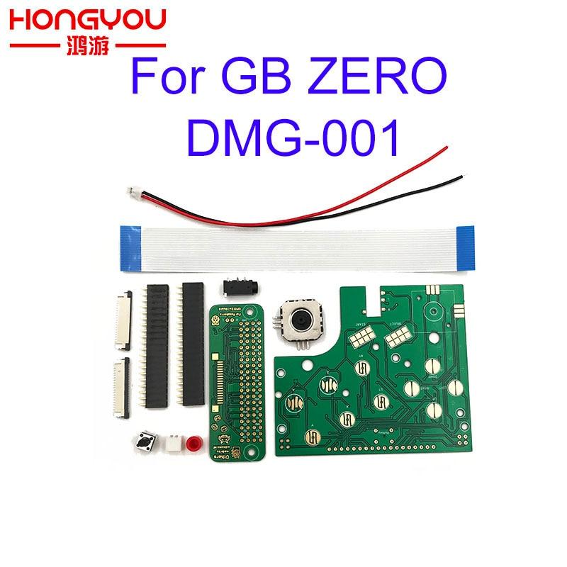 Diy 6 botões pcb placa interruptor fio conector kit para raspberry pi gbz para o jogo menino gb zero DMG-001