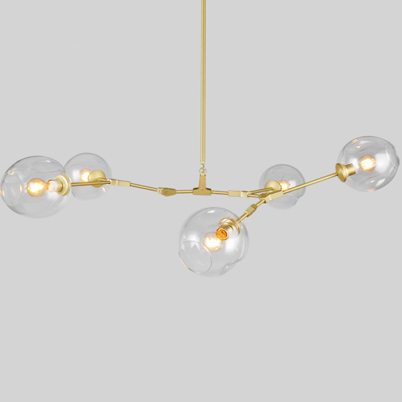 Lindsey adelman 5 heads chandeliers hanging lighting for Suspension 3 branches