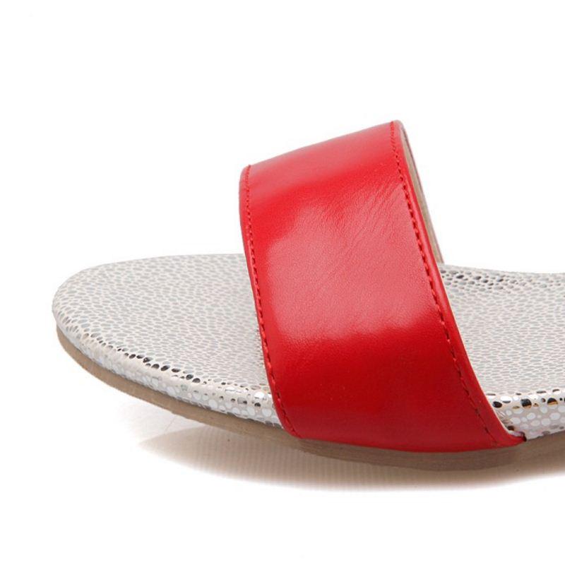 Pie Verano 50 negro Del Taoffen Sanda Pajarita Dedo Mujeres Planos Beige Mujeres Zapatos rojo Tamaño verde Sandalias Dulce Abierto 33 Las Simple De Bowknot qE6SCaw
