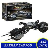 7115 DC Super Heroes Series The Dark Knight Batman Batmobile Bricks Bat Pod Building Blocks Toys