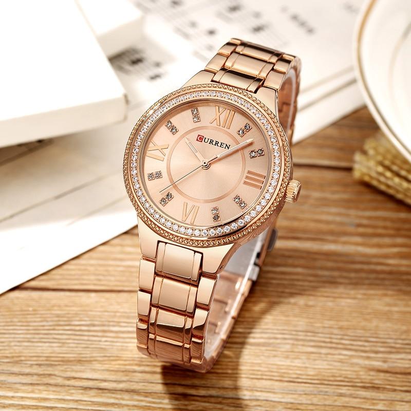 fc4a2a6d Купить CURREN Модные черные для женщин часы 2018 Высокое качество ультра  тонкий кварцевые часы женские элегантное платье женские часы Montre Femme  Продажа ...