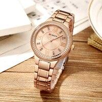CURREN Fashion Black Women Watches 2018 High Quality Ultra Thin Quartz Watch Woman Elegant Dress Ladies