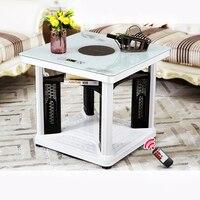 Calentador eléctrico de mesa de calefacción escritorio eléctrico secador de ropa hogar calentador de cuatro lados calentador de mano recargable para sala de estar