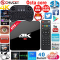 H96 Pro 2G/16G Amlogic S912 Octa Núcleo Android 6.0 Caixa De TV Wi-fi 2.4G/5.8G H.265 BT4.0 4 K Media Player Smart TV BOX PK X92 X96