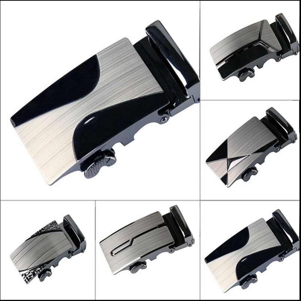 Бутик мужской ремень сплав Автоматическая пряжка без пояса мужской модный кожаный ремень пряжка мужской ремень аксессуары