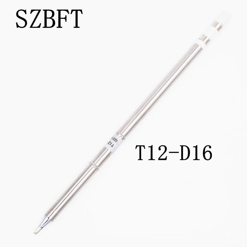 SZBFT 1 pz Per Hakko t12-D16 Ferri da saldatura elettrici Punte di ferro per saldatura serie T12 Stazione di rilavorazione di saldatura FX-951