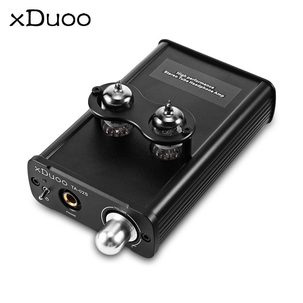 XDUOO TA-02S High Performance Stereo Tube Headphone Amplifier Hybrid Tube Dual Tube AMP and Class A BUF original xduoo ta 20 high performance balanced tube headphone amplifier power amplifier