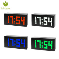 Mrosaa LED Digital Electronic Alarm Clock LED Dot Design Cube Thermometer Temperature Date Table Desktop Clocks High quality