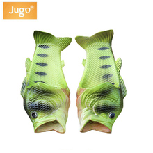 Kids Slippers Creative Funny Fish-shaped Summer Beach Shoes Girls Boy Outside Wear Carp Slippers Children Novelty Beach Slippers