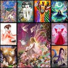 5D DIY full Diamond Painting Beautiful Princess Magic Wand Embroidery Diamond Painting Cross Stitch Rhinestone Mosaic Painting
