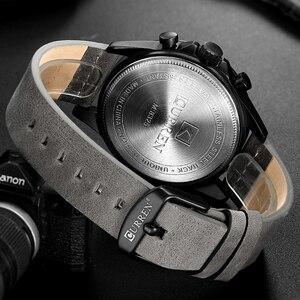 Image 4 - Curren Mens saatler üst marka lüks Chronograph erkekler İzle deri lüks su geçirmez spor İzle erkekler erkek saat adam kol saati