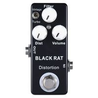 SEWS Mosky Black RAT Distortion Mini Guitar Effect Pedal