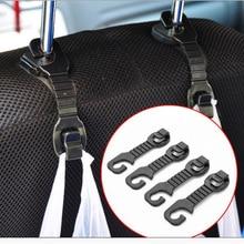 1Pair Car Back Seat Headrest Hanger Holder Hooks For Bag Purse Cloth Grocer Popular
