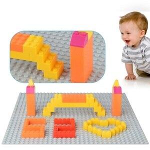 Image 3 - Blocchi di grandi Dimensioni Piastra di Base 16*16 Punti 25.5*25.5 centimetri di Mattoni Piastra Solida Giocattoli Giocattoli Per Bambini bambini FAI DA TE di Grandi Dimensioni
