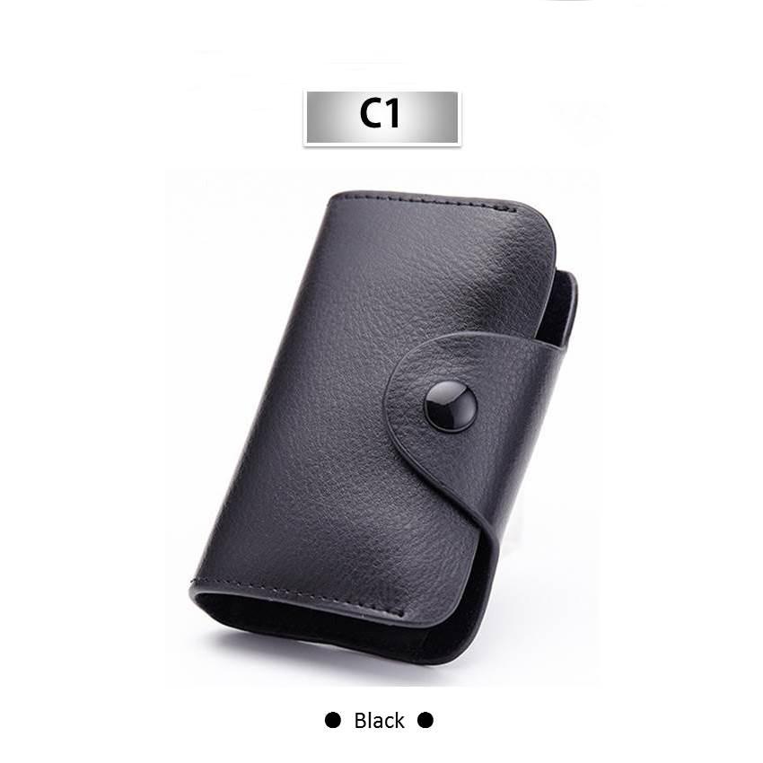 Soft Leather Card Holders Wallet 12 Card Slots Business Men Credit ...