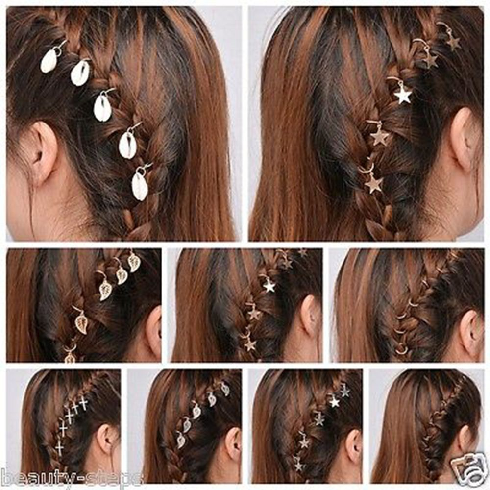 5Pcs Women Girl Fashion Shell Colo Hair Clip Slide Bridal Hair Hairband HandRSFD