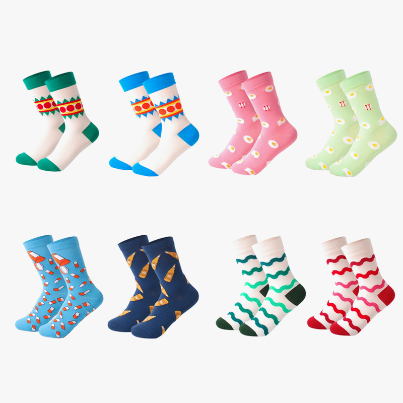 magasin en ligne 1fdb8 a1cb3 US $16.99 |LIONZONE 8Pairs/Lot Spring Cotton Cute Socks Cartoon Pokemon  Chaussettes Femme Fantaisie couple Tube Sockken Happy Socks Funny-in Socks  ...