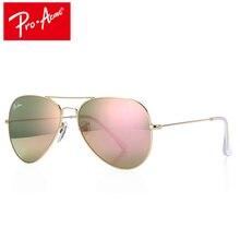Pro ACME Высокое качество кристаллов Стекло объектив зеркала большие металлические Авиация Солнцезащитные очки для женщин Для мужчин Брендовая Дизайнерская обувь с случае PA0325