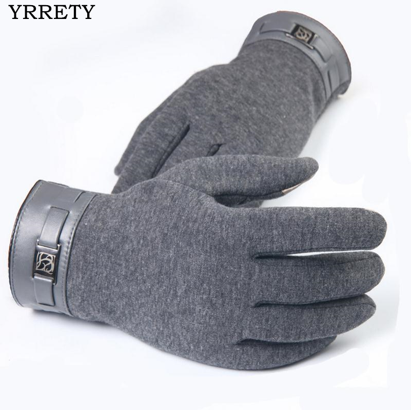 YRRETY 2018 Men Fashion Warm Touched Screen Stretch Gloves Mobile phone Touching Gloves Smartphone Driving Glove Winter Gloves