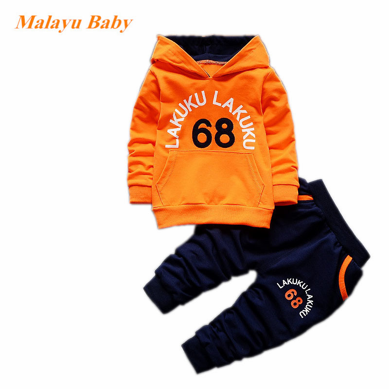 Autumn Baby Clothing Sets Toddler Tracksuit Children Boys Girls Fashion Brand Clothes Kids Hooded T-shirt And Pants 2 Pcs Suits 2018 children boys girls clothing suits autumn winter baby hooded vest t shirt pants 3pcs sets cartoon kids clothes tracksuits