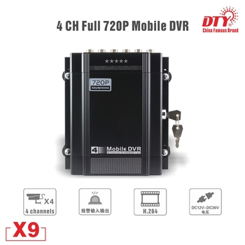 3g X9s-3G, DTY Factory direct 4CH AHD 720P Mobile DVR X9s with GPS and 3G, unique design gps 3g mdvr