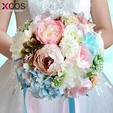 Новые Свадебные цветы Свадебные букеты Романтический ручной работы цветок невесты Свадебные аксессуары для невест высокое качество