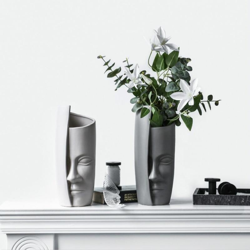 Arte Vaso di Design Creativo Viso Decorazione Vaso di Casa Decorativo Astratto Armadietto del Vino VasoArte Vaso di Design Creativo Viso Decorazione Vaso di Casa Decorativo Astratto Armadietto del Vino Vaso
