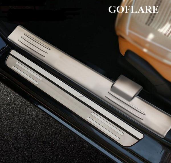 car styling for suzuki vitara accessories 2016 2017 stianless auto door sill protector scuff. Black Bedroom Furniture Sets. Home Design Ideas