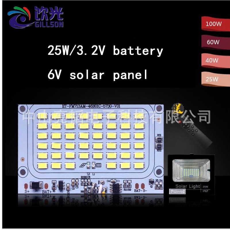 Kontroler światła słonecznego LED 20W 40W 60W 100W 200W Solar inteligentne reflektory kontroler PCB 32650 3.2V pilot światła ogrodowe