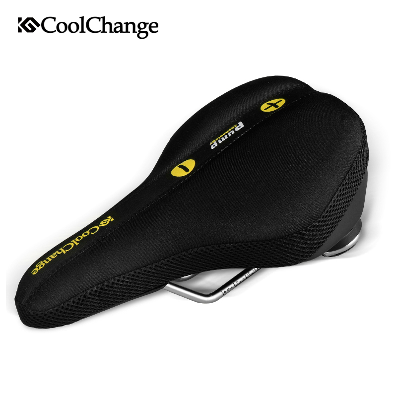 CoolChange bicycle saddle seat MTB road bike accessories after the rear seat cushion cover sets Cycling Equipment coolchange bike seat comfortable saddle cover thick cushion bicycle sponge high elastic breathable cycling seat cushion cover