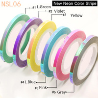 3Rolls Mermaid Striping Tape Line   Sticker     Decal   size 1mm 2mm 3mm New 2018Trend for Nail Art and DIY supplies- 6 colors availabe