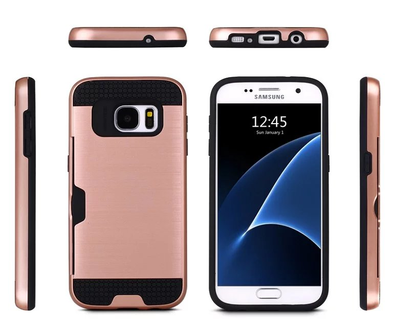 Case for samsung A3 A5 A7 A310 A510 A710 Carbon Fiber Brushed Wire Drawing Silicone for samsung J3 J5 J7 J510 Mobile Phone Shell